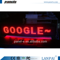 LANPAI P10 outdoor led sign 12v led car message moving scrolling sign display led sign board