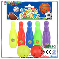 Wholesale cheap funny kids mini plastic bowling toy set
