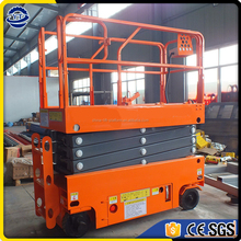 Hot exported product self-propelled battery power scissor lift platform price