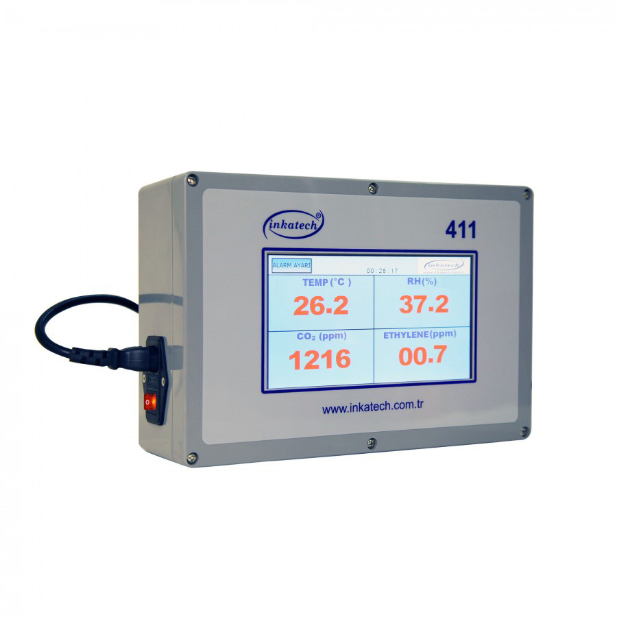 Temperature, Humidity, CO2, Ethylene Monitoring And Controling Device