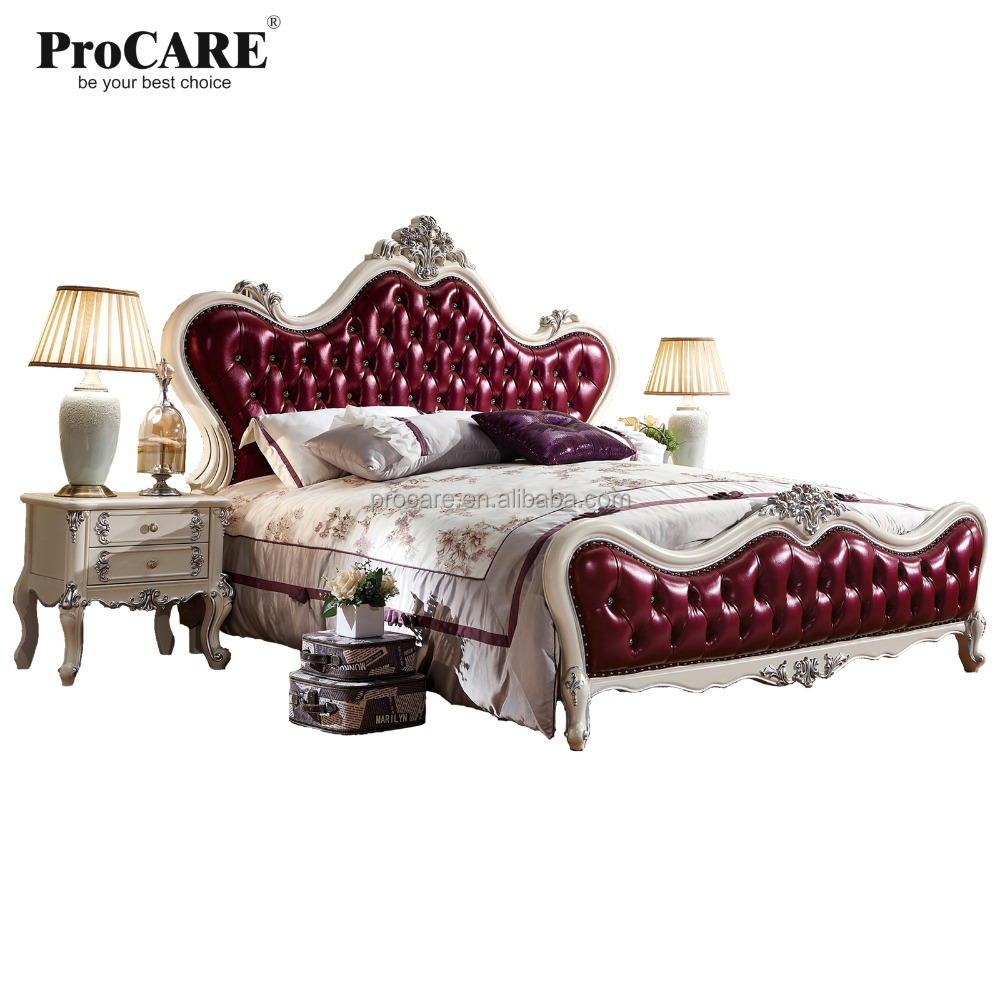 Luxury european and american style furniture royal seres bedroom leather bed buy european style leather bedluxury leather bedgenuine leather bed product