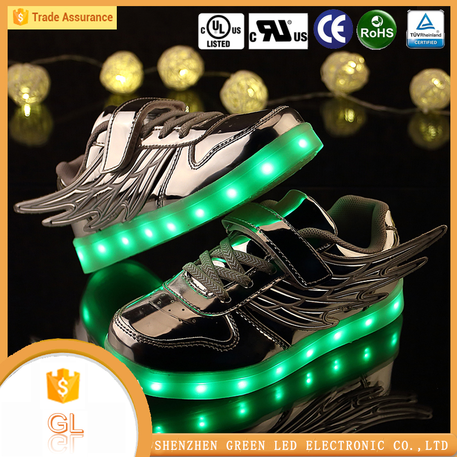Private label shoes casual shoes lighting led children shoes