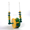 The new parrot rolling wooden toy Peck wood traction bite toy for birds