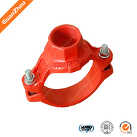 alibaba China iron casting pipe fittings ductile iron threaded mechanical tee