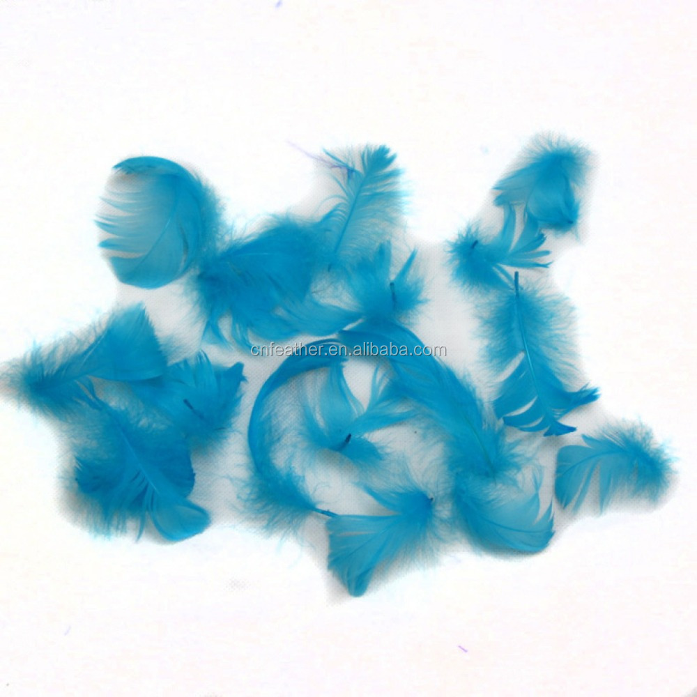 5-8cm Dyed Beautiful colors Goose Feathers for cheap sale