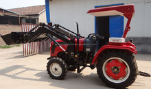 35hp,4x4 wd farm tractor with backhoe loader and front boom