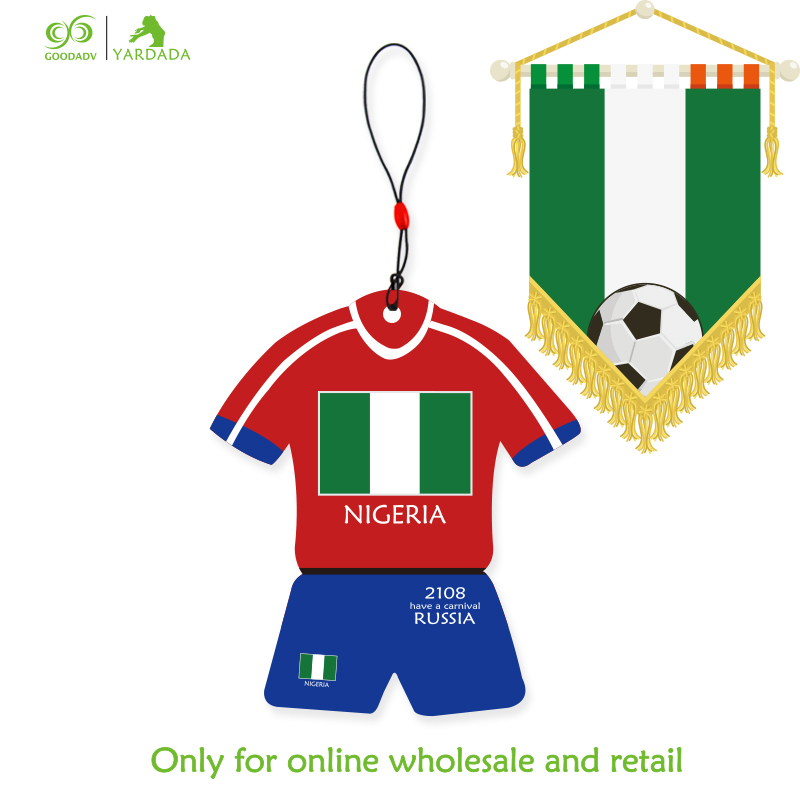 Football Car Hanging Fragrance NIGERIA Football Fans Souvenir National Flag Jersey Scent aroma diffuser Air Freshener