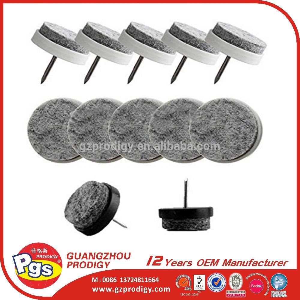 nail on felt pad heavy duty anti skid furniture feet nail on felt pad