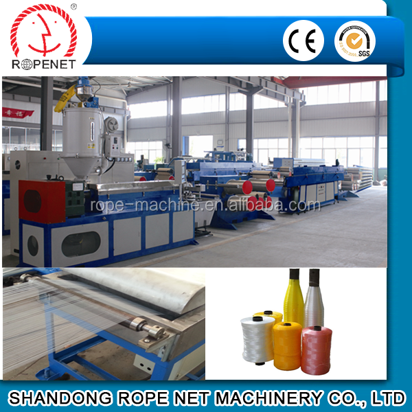new condition pp/hdpe mono filament twine extruding line