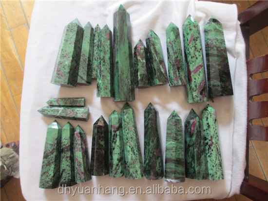 100-150mm natural epidote crystal points, small zoisite obelisks