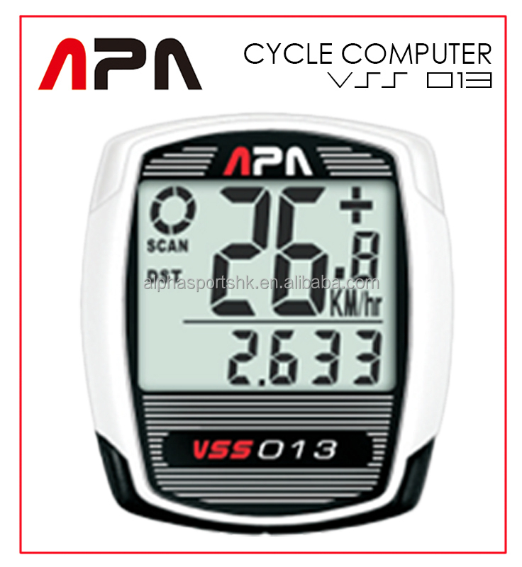 Alpha Sports Alphasports APA VSS013 9 functions Wireless Speed Distance Temperature Cycle computer Cycling computer