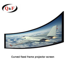 300 inch curved fixed frame projector / projection screen for display