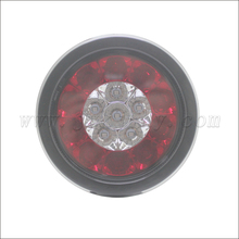Rubber Grommet Round LED Truck/Trailer Amber/Red Taillights