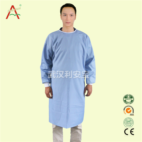 blue cotton surgical gown for operation room