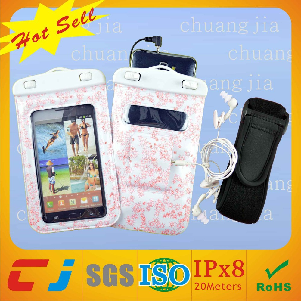 High quality bling waterproof mobile phone bag covers