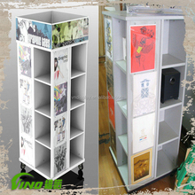 rotating T-SHIRT Tower , portable t-shirt floor display stand , hanging t shirt retail display ,