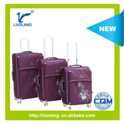 2015 purple nylon twill business travel luggage