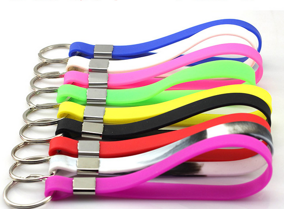 Silicone wristband keychain for promotional gifts