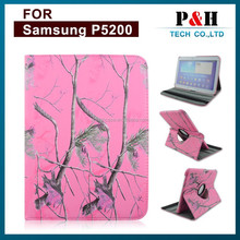 360 PU Rotating Waterproof Leather Case Back Cover For Samsung Galaxy Tab P5200 P5210