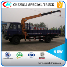5 tons loading 3 ams dongfeng 4*2 telescopic boom truck mounted crane