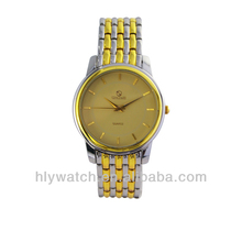 Stainless Steel Back 2 Tone Gold Mens Luxury Watches 2014