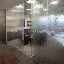 Interior frosted wall Used 12mm tempered office glass partition door price