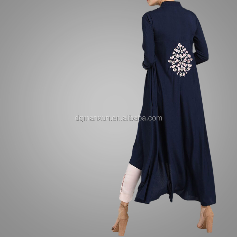 2018 Wholesale Cheap Embroidery Style Muslim Tops New Arrival High Quality Woman Dresses Islamic Clothing