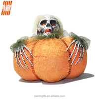 Fashion all saints orange large pumpkin with a horrible skull hold it