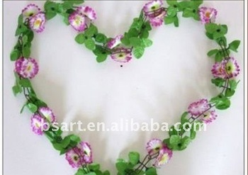 Beautiful plastic flower garland for decorating house
