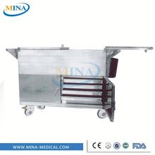 MINA-FC005 CE quality cheap stainless steel hospital steam heating food warmer, patient food transport cart