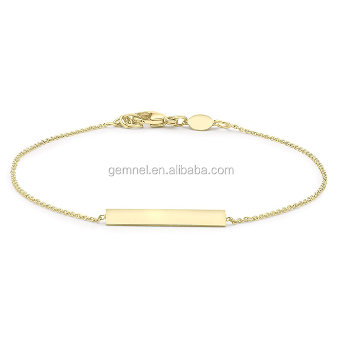 Gemnel jewlery 18k gold bracelet write name