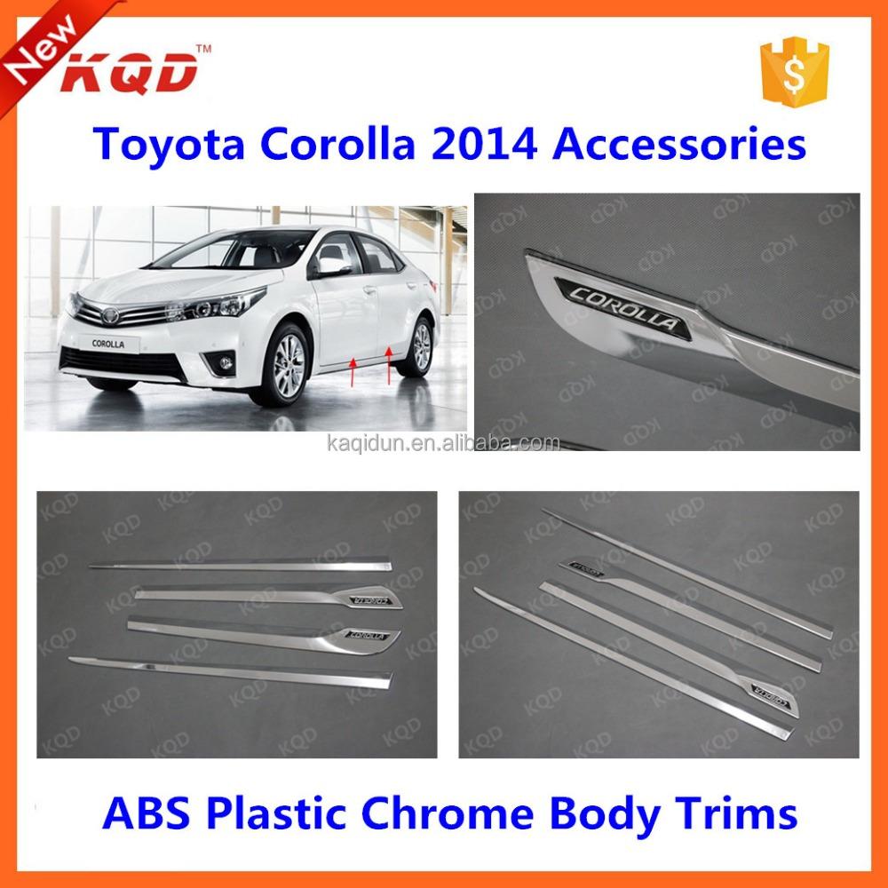 Toyota corolla chrome kit body side moldings for toyota corolla plastic parts door side molding for toyota corolla 2016 altis buy body side moldings for
