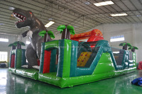 Crazy Dragon/Dinosaur Jurassic Inflatable Amusement Fun City Park For Kids