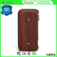 high power kamry 80w carved wooden cigarette case kit,Unique redwood material 80w TC wood pen mechanism