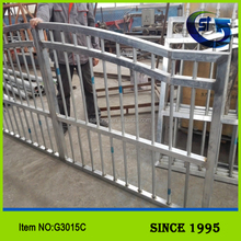 Wholesale Iron Fence Welded Fence Gate Metal Fencing Gate Antique Wrought Iron Double Swing Gate