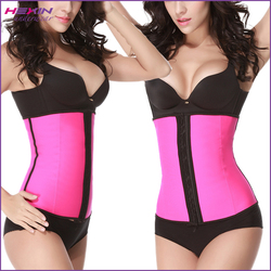 Latex Rubber 4 Steel Boned Pink S[ports Women Waist Training Corset