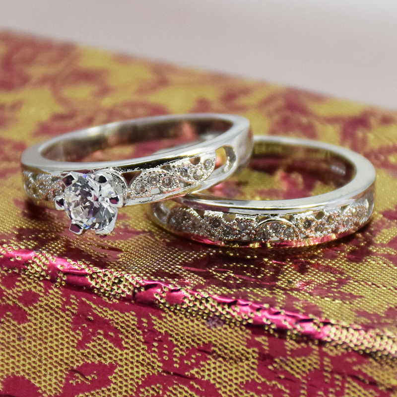 2017 Latest 925 Thailand Engagement Wedding Ring Set With Free Sample