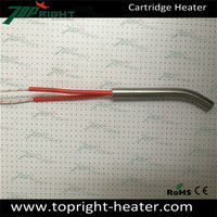 8mm tube dia electric cartridge heater with 300mm lead wire