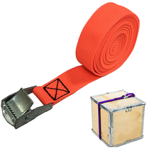 orange 25mm * 3m 750 lbs cam buckle tie down cargo lashing strap