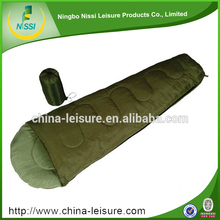 2016 hot sale fast inflatable nylon cotton 100% POLYESTER FIBER sleeping bag