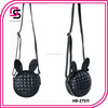 2014 fashion cute korean young lady plaid black rivet leather bags