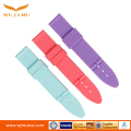 Flat Head Silicone strap universal smart watch rubber watch band parts