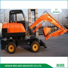 360 degree garden wheel backhoe/tractor backhoe/wheel digger
