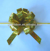 pre-made ribbon tie bow/pull ribbon bow for Xmas decoration/Giftwrap