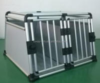 High quality double-door dog transport box with ellipse tube