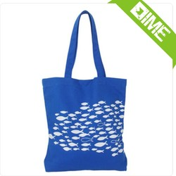 Hot Selling Blue Printing Cotton Canvas Tote Bag