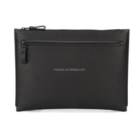 high quality popular mens leather clutch bag/clutch bag men/zip flat clutch bag