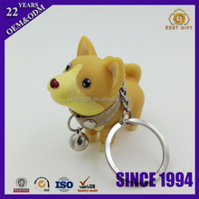 Custom personalised animal keychain novelty bull terrier dog keychain
