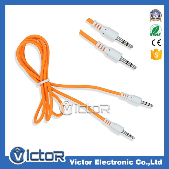 3.5mm safe and stable aux audio cable for smartphone