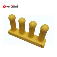 Gas asist injection molding plastic hand knitting loom